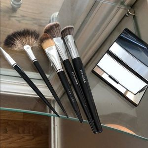 sephora assorted brushes and mirror